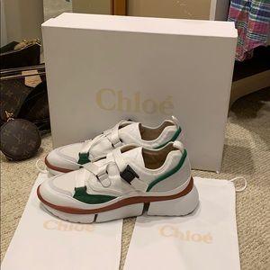 Chloe Jungle Green Fashion Sneakers